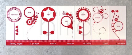 Personalized Family Night Magnet Set