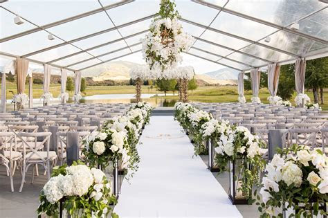 Wedding Ideas & Trends: Clear Top Wedding Tents   Inside