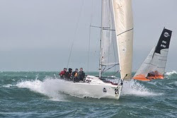 J/80 sailing EDHEC off France