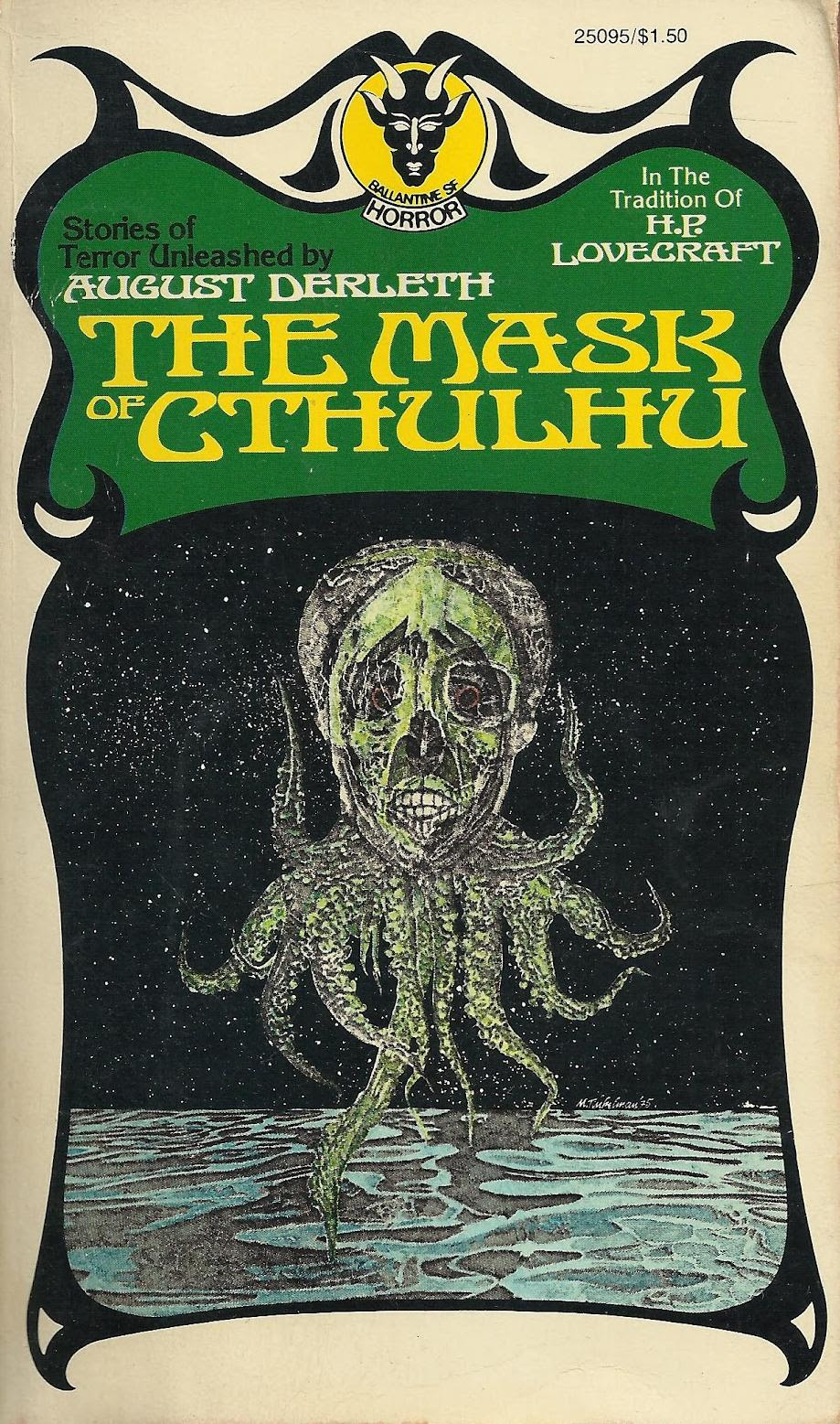 "Murray Tinkelman - Cover for ""The Mask Of Cthulhu"""