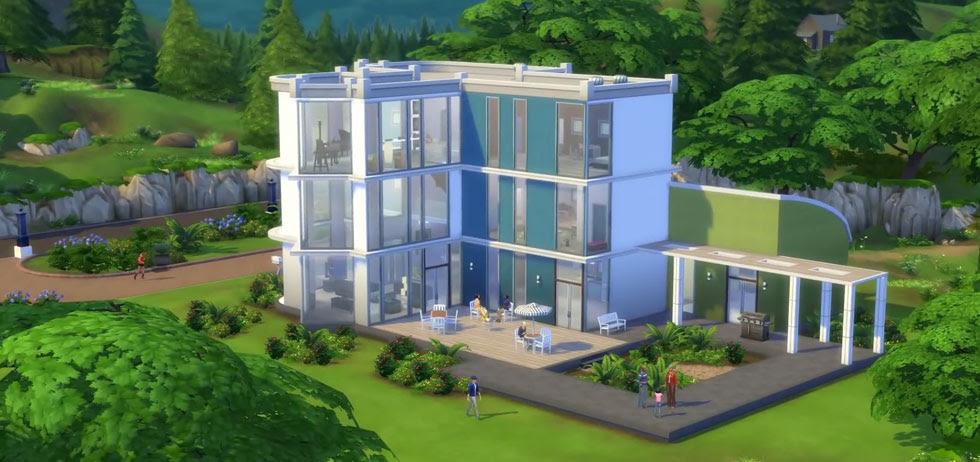 Desain rumah mewah the sims 1 contoh o for Homedigine