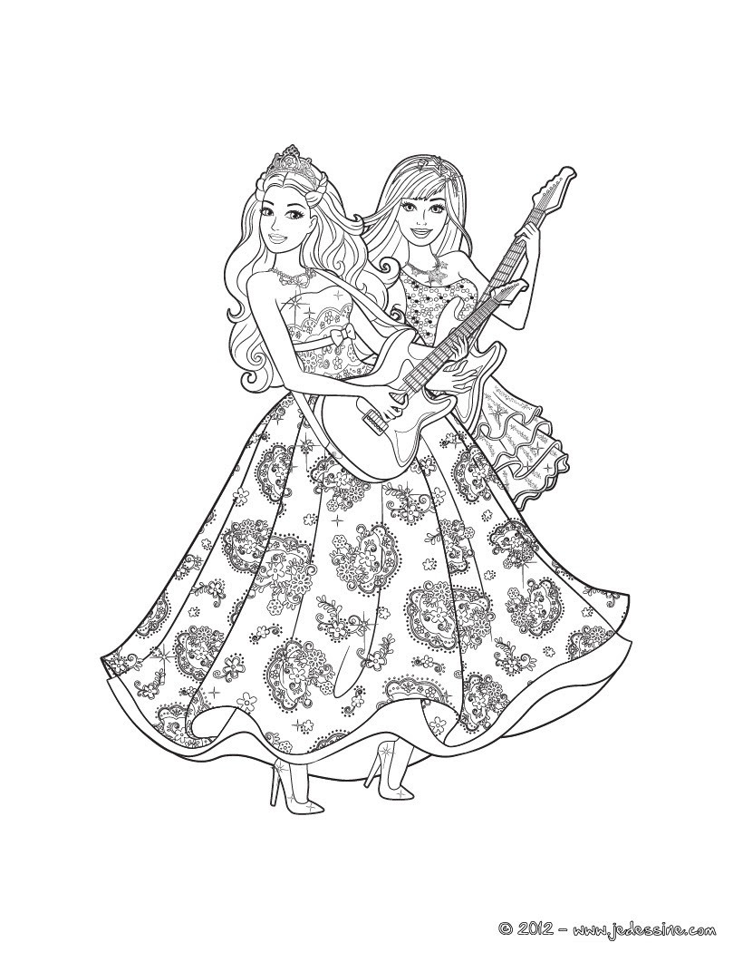 Coloriage des STARS Coloriage Coloriage BARBIE Coloriage BARBIE LA PRINCESSE et LA