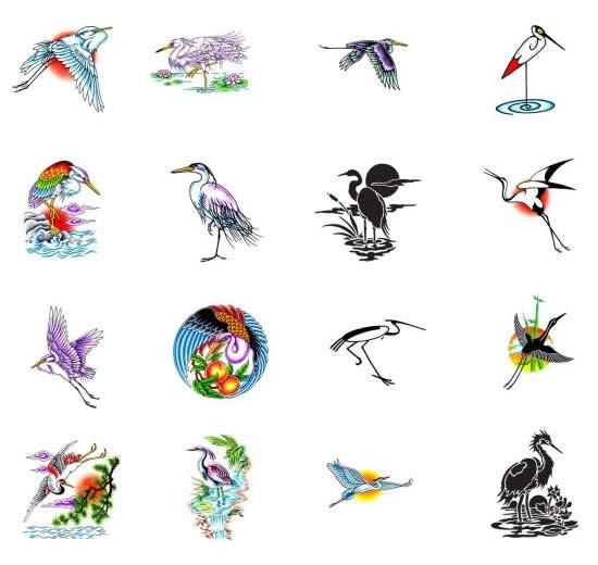 Crane Tattoos What Do They Mean Crane Tattoos Designs Symbols