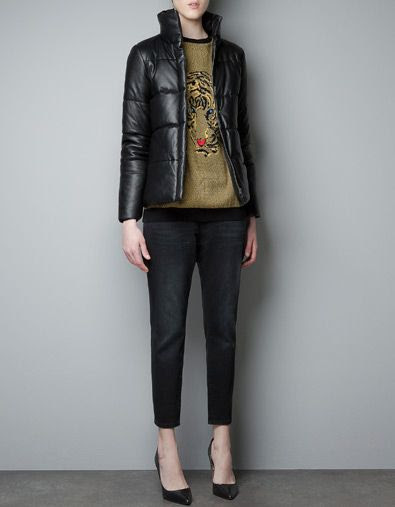 Zara Leather Studio Jacket