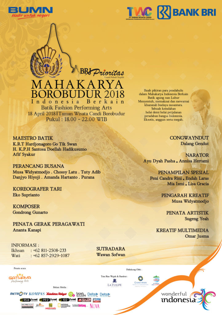 Bri Prioritas Mahakarya Borobudur 2018 Taman Wisata Candi