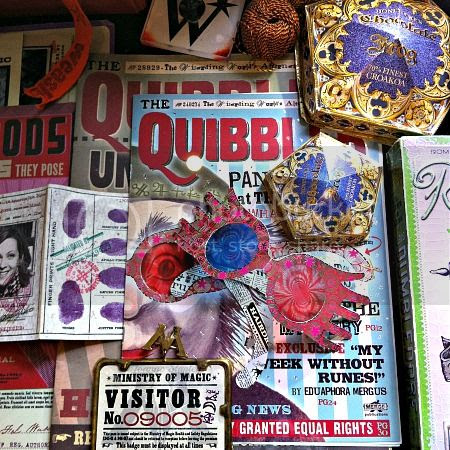 Props from the movies: Copies of the Quibbler and chocolate frog boxes - The House of MinaLima