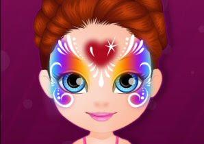 Bebek Barbie Hobiler Yüz Boyama Oyunu Barbie Oyunlar Gamecr