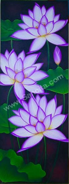 Sketsa Bunga Lukisan Bunga Lotus