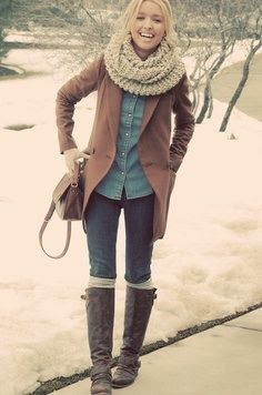 Perfect! I adore how this style was put together. Its layered in a way where the girl is comfortable and warm, but without over doing the layering!