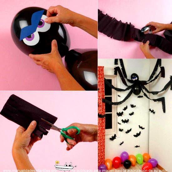 decoracion halloween con globos
