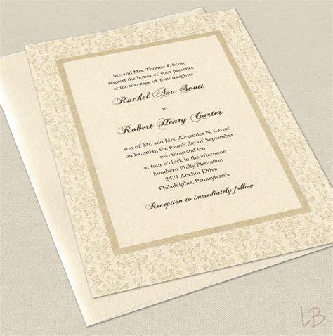 Formal Wedding Invitation Sample Set by LBcreativepaper on