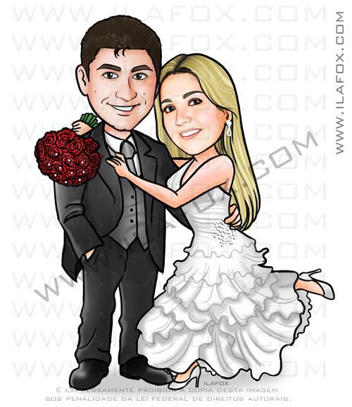 caricatura divertida, caricatura clássica, caricatura para casamento, caricatura noivos, caricatura para casamento, by ila fox