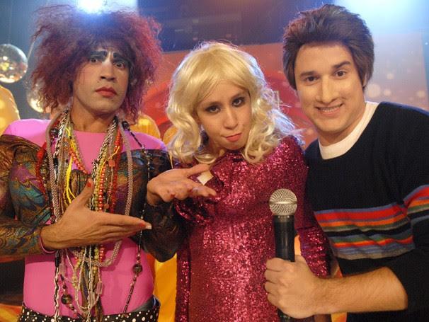 Valéria (Rodrigo Sant'anna), Janete (Thalita Carauta) e Luciano Muque (Filipe Pontes) (Foto:  TV Globo / Rafael Sorín)