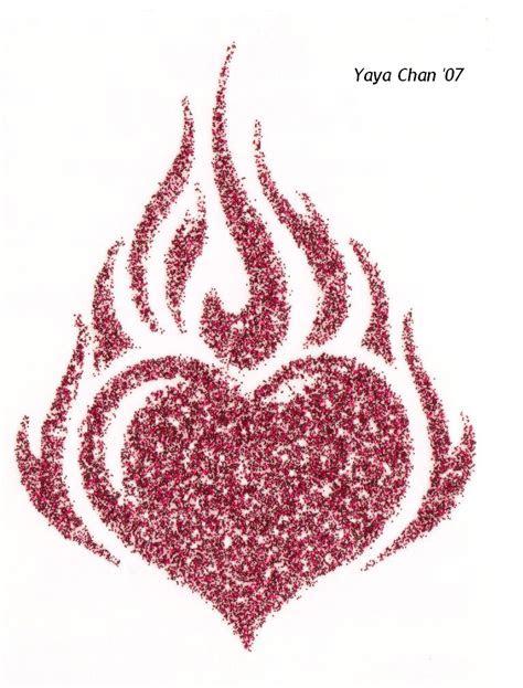flaming heart  love inu anime  deviantart