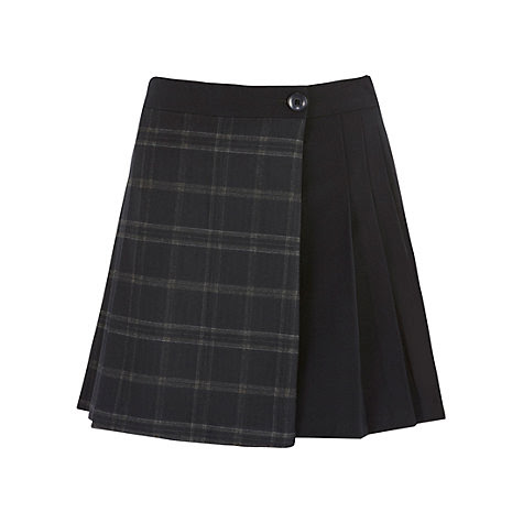 Buy Warehouse Trimmed Kilt, Dark Grey Online at johnlewis.com