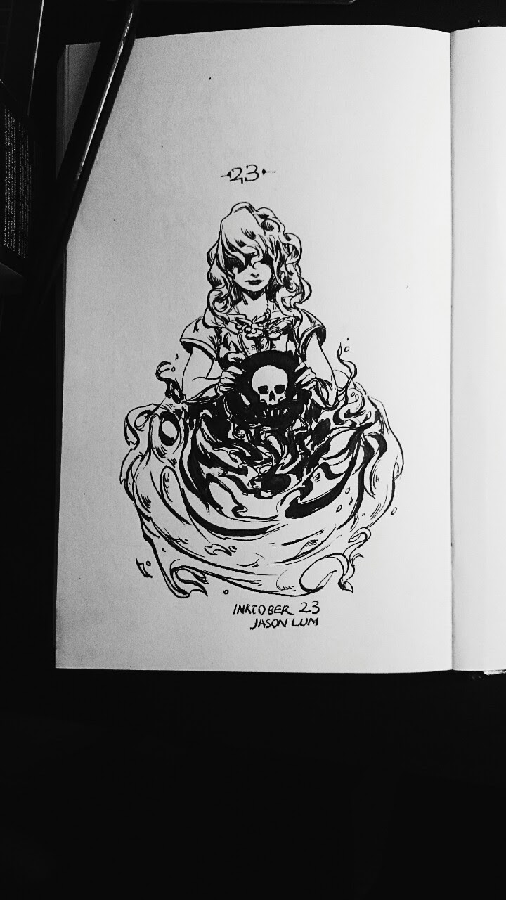 Inktober 23 tiny ghost