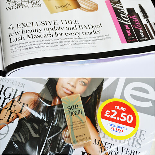 Instyle mag November issue Benefit freebies