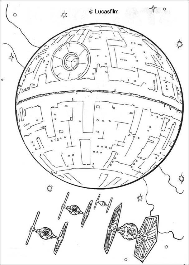 Tie Fighter Coloring Page At Getdrawingscom Free For Personal Use