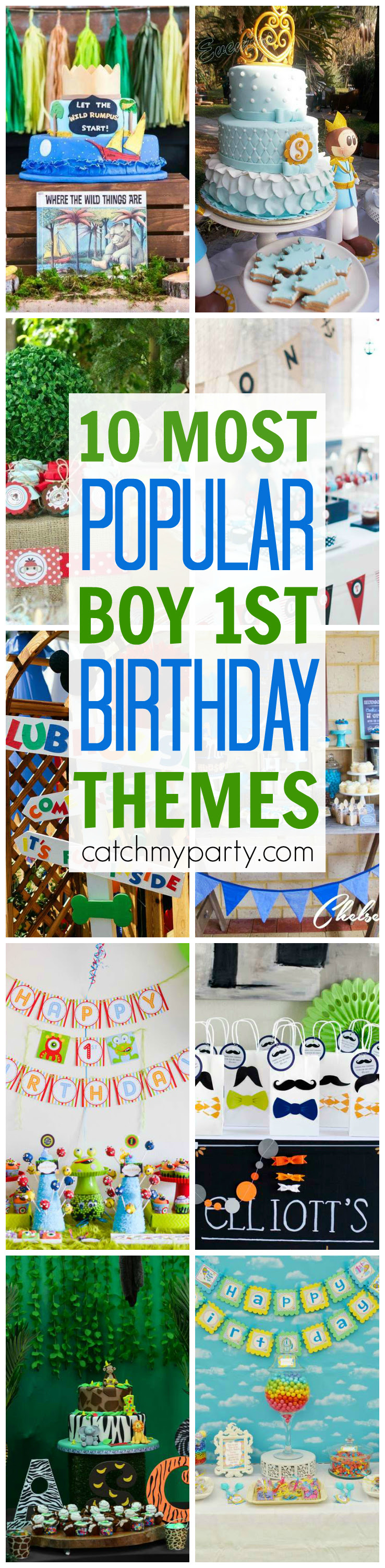10 Most Popular Boy 1st Birthday Party Themes Catch My Party
