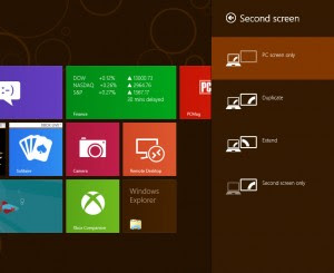 Windows 8 CP, live tiles + multi monitor setup