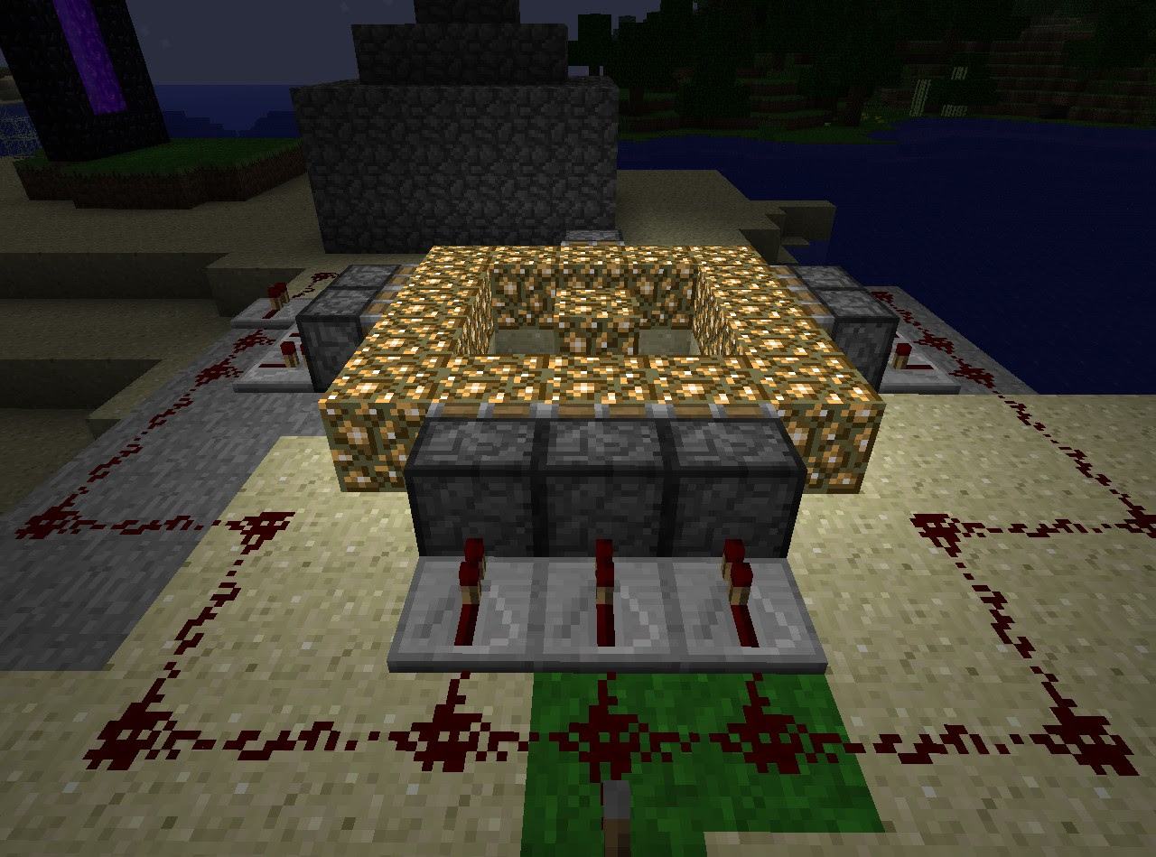 piston opening mine with trap door stairs Minecraft Project