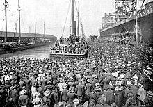 San Francisco, July 1897. The steamship Excelsior leaves San Francisco on July 28, 1897, for the Klondike