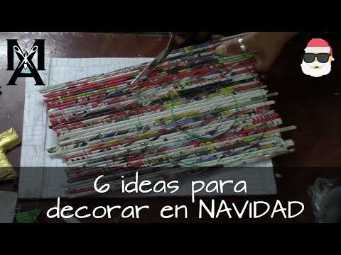 6 Ideas  para decorar en navidad combinado materiales (CD`S rollos papel...