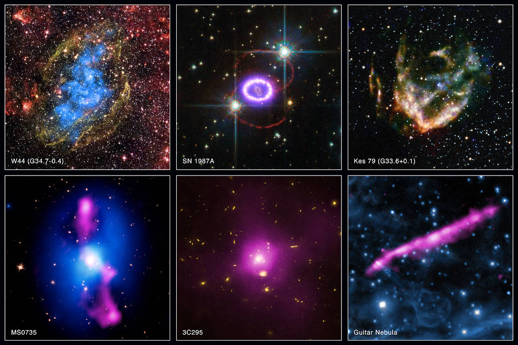 A collection of new images from the Chandra 2015 archive.