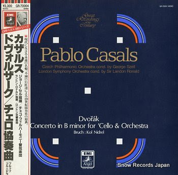 CASALS, PABLO dvorak; concerto in b minor for 'cell & orchestra