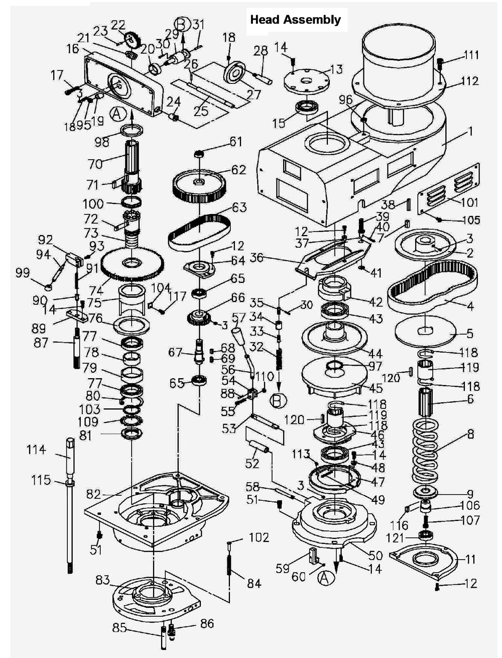 bridgeport wiring diagram 33 bridgeport mill parts diagram wiring diagram list  33 bridgeport mill parts diagram
