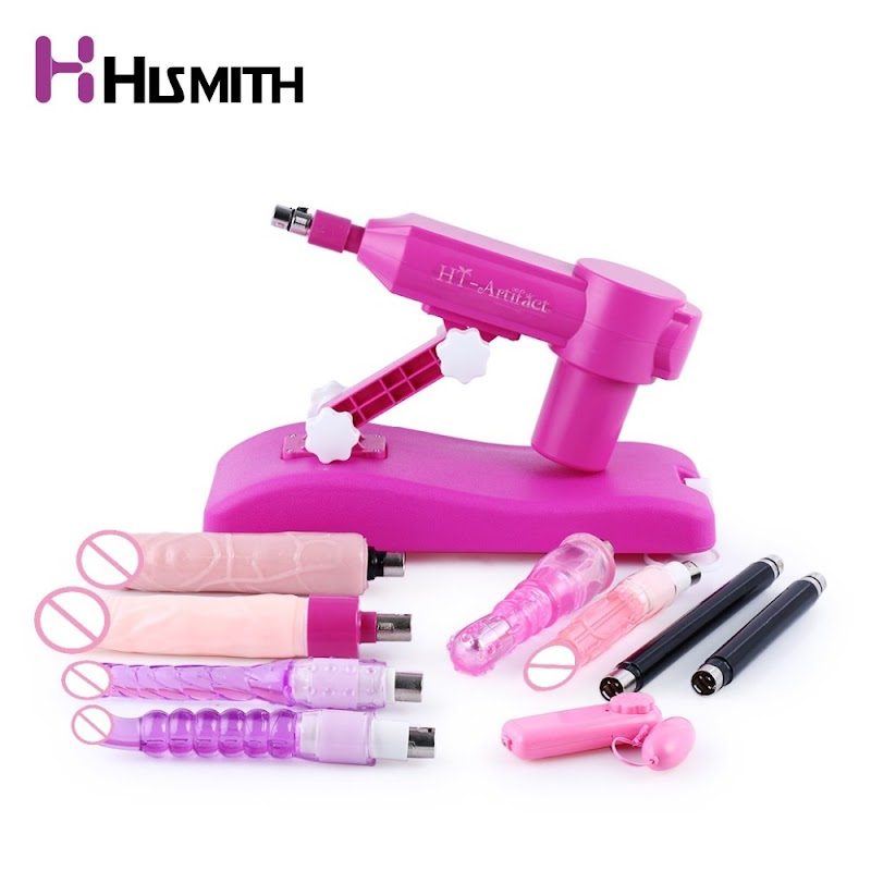 Hot  Hismith Noiseless Sex Machine with 9 attachments Water injection love machine CE ROHS sex toys for