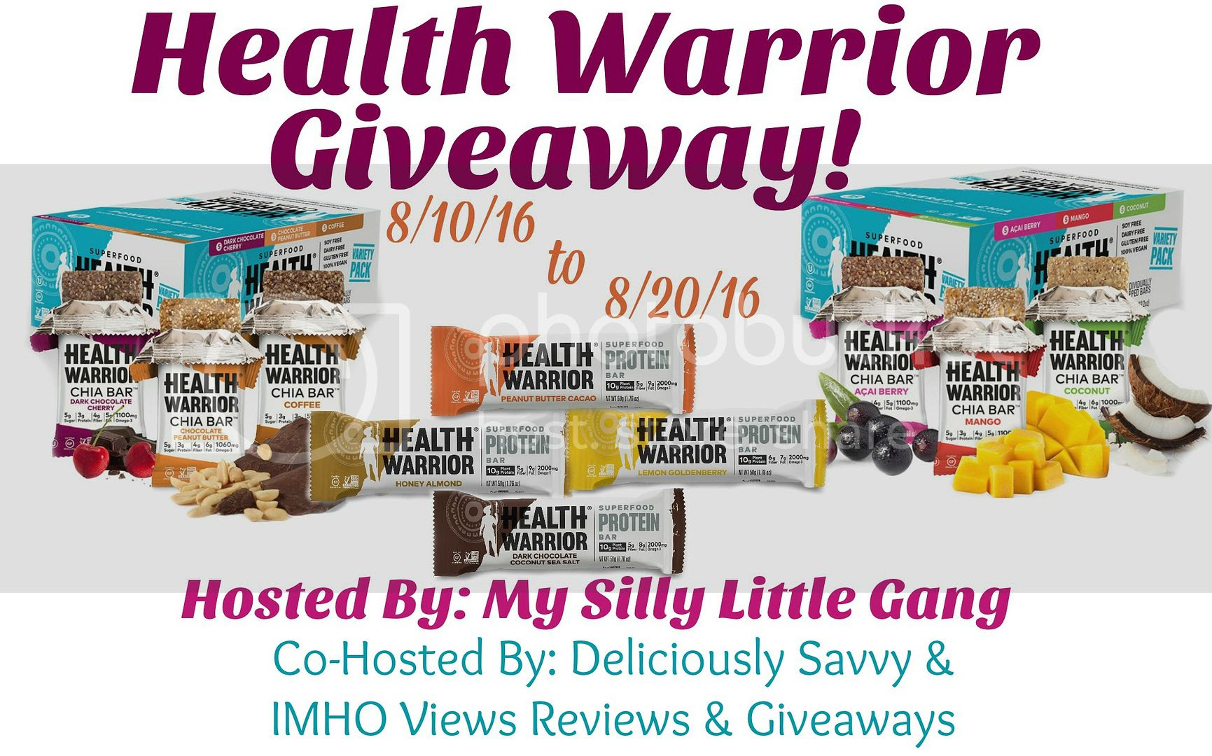 Health Warrior Bars Giveaway