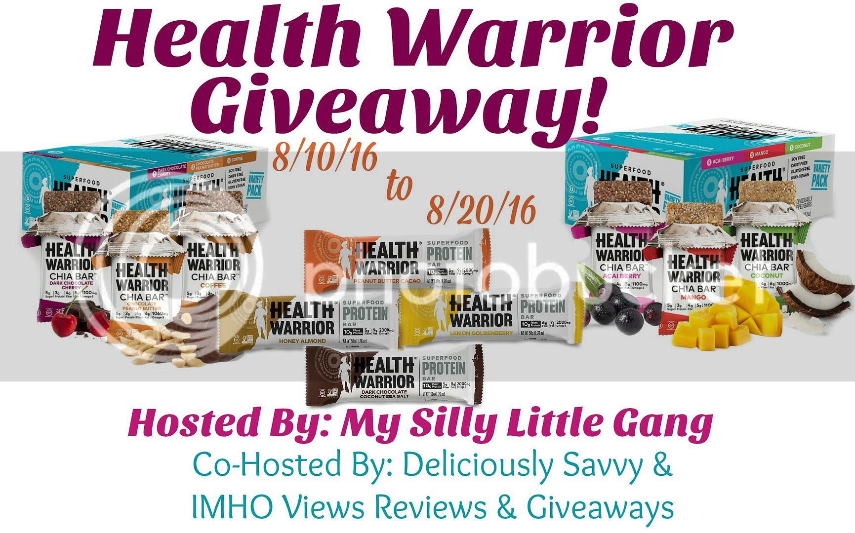 Health Warrior Bars Giveaway