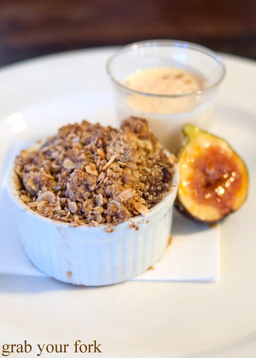 Quince crumble at Grazing in Gundaroo