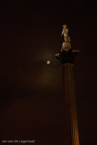 Nelson and the moon