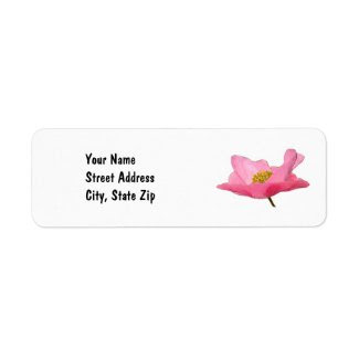 Pink, Poppy, return address label