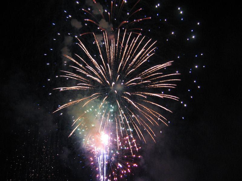 Fireworks in Brookdale Park