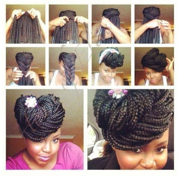 10 Gorgeous Ways to Style Box  Braids  Black Girl with