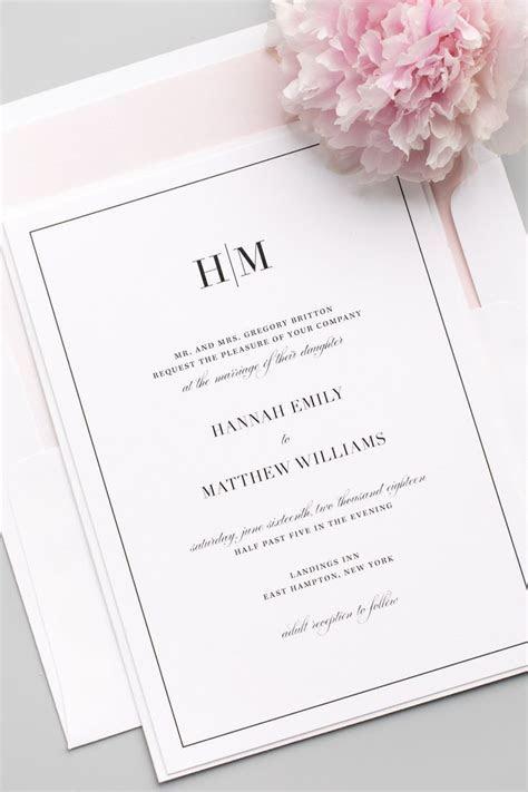 Glam Monogram Wedding Invitations in 2019   Member Board