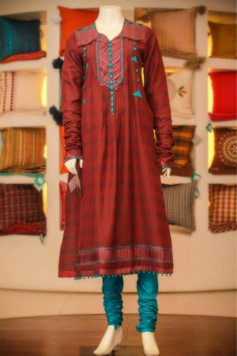 Casual-Lawn-Womens-Girls-Kurta-Kurti-Collection-2013-by-Thredz-for-Ladies-6