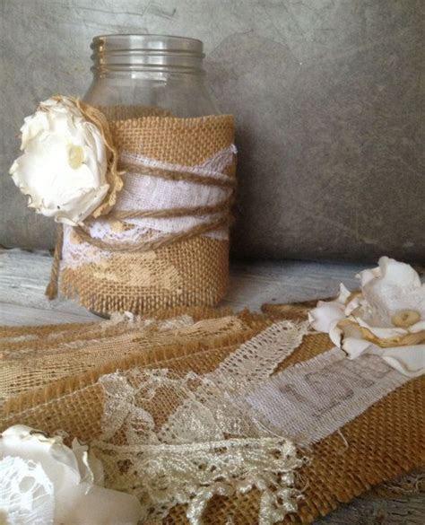 Rustic Wedding Decor for 10 Jars, Rustic Centerpiece