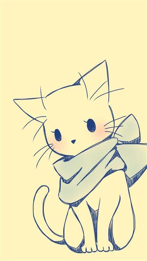 pin  doris   kawaii cuties dibujos de gatos
