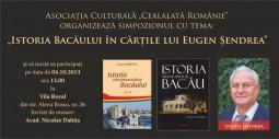 """""""Istoria Bacaului în cartile lui Eugen Sendrea"""""""