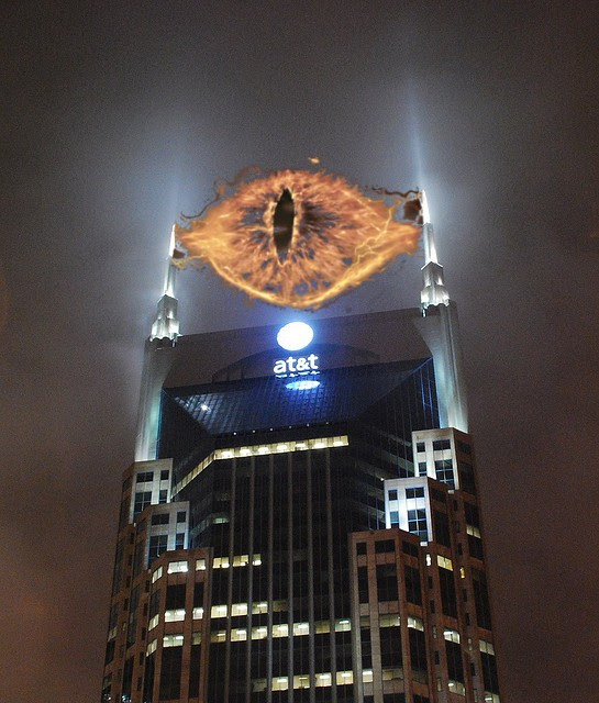 A great Eye, lidless, wreathed in flame...