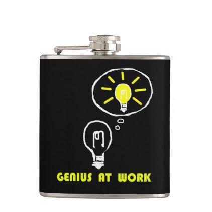 Genius at work flask
