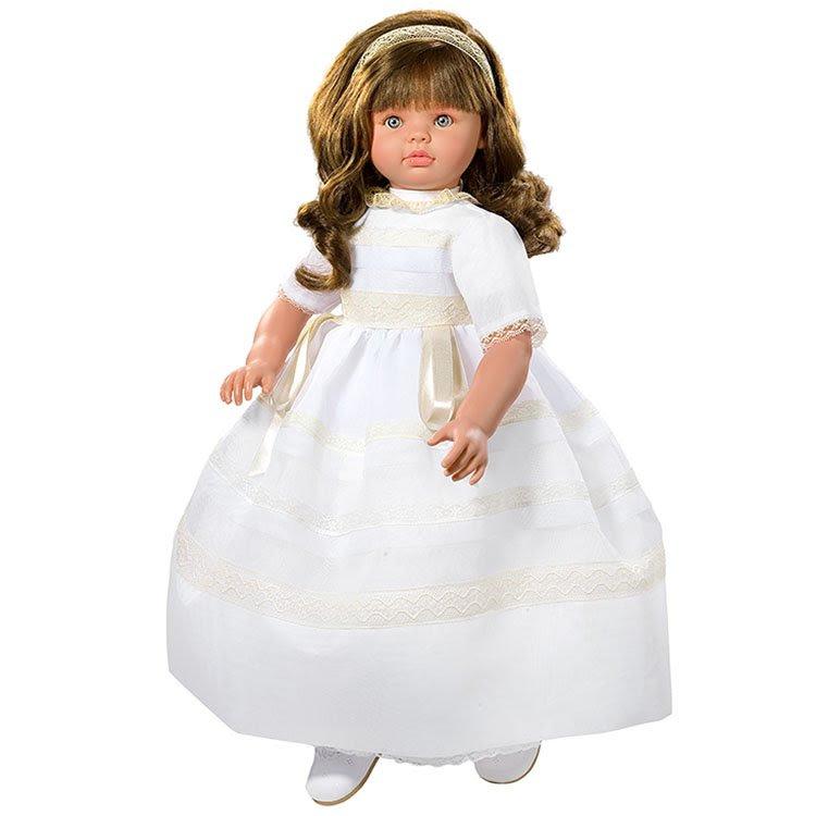 Foto muñeca Pepa vestida de Comunión de 57 centímetros de la marca de muñecas Así