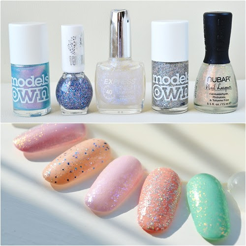 spring nail polish picks 2012 glitter top coats