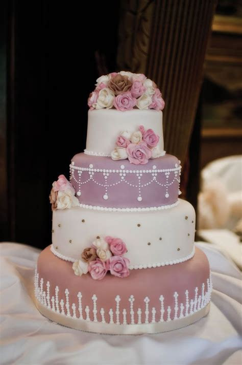 Lois and Matt chose a dusky pink wedding theme with lace