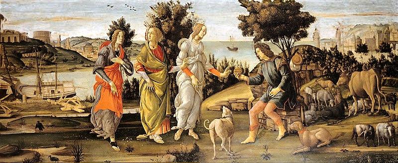 Datei:Sandro Botticelli - Il Giudizio di Paride.jpg