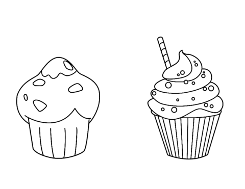 7300 Top Cupcakes Coloring Pages For Free